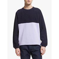 shop for Les Basics Crew Neck Raglan Ribless Colour Block Sweatshirt at Shopo