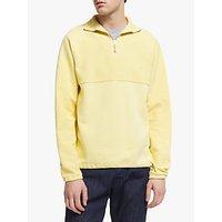 shop for Les Basics Le Zip Fleece Sweatshirt, Yellow at Shopo