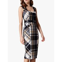 Karen Millen Tartan Check Dress, Multicoloured