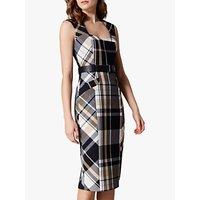 Karen Millen Tartan Check Dress, Multicoloured