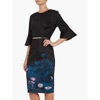 Ted Baker Azania Floral Pencil Dress, Dark Blue