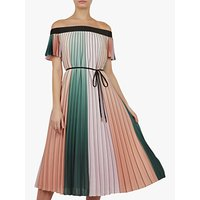 Image of Ted Baker Fernee Colour Block Pleated Maxi Dress, Multi