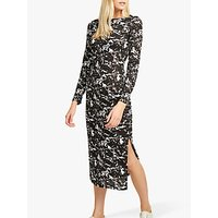 shop for French Connection Lawson Print Dress, Black/White at Shopo