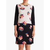 Fenn Wright Manson Petite Caprice Dress, Navy/White Print