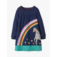 Mini Boden Girls' Horse Applique Dress, College Blue