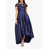 Adrianna Papell Long Sequin Dress, Midnight