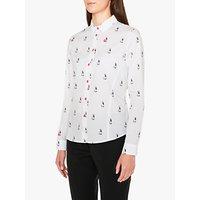Paul Smith Rabbit Print Cotton Shirt, White