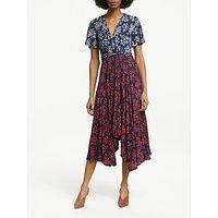 Boden Heather Floral Midi Dress, Navy Bloom
