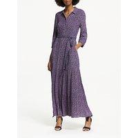 Boden Viola Floral Maxi Shirt Dress, Navy