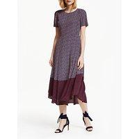 Boden Renee Midi Dress, Navy/Chalky Pink