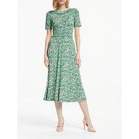 Boden Ava Floral Spot Midi Dress