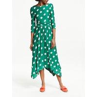 Boden Maisie Jersey Midi Dress, Forest Carnation Bud