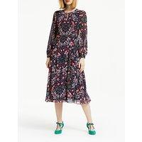 Boden Ada Midi Dress, Navy/Trop Jungle