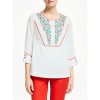 Boden Kelsey Embroidered Blouse, White