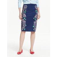 Boden Richmond Pencil Skirt, Navy/Trop Place