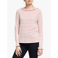 Boden Olive Jersey Stripe Top