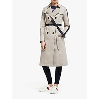 Boden Whistable Trench Coat, Soft Stone