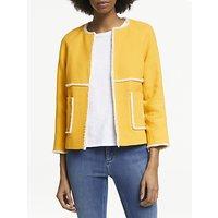 Boden Ida Textured Jacket, Happy Yellow