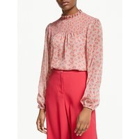 Boden Janie Floral Blouse, Chalky Pink Daisy