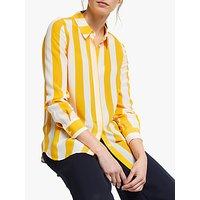 Boden Striped Silk Shirt, Ivory & Happy Street