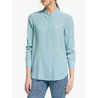Boden Silk Shirt, Heron Blue