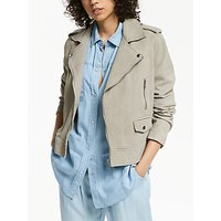 AND/OR Suede Biker Jacket, Neutral