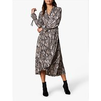 Karen Millen Snakeskin Print Maxi Dress, Multi