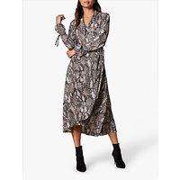 Karen Millen Snakeskin Print Maxi Dress, Multi