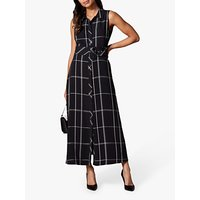 Karen Millen Check Maxi Dress, Black/White