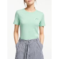 ARMEDANGELS Lidaa Loved Me Organic Cotton T-Shirt, Jade Mint