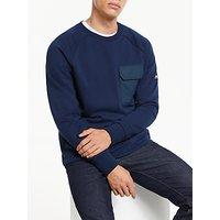shop for Penfield Mansel Pocket Detail Sweatshirt, Navy at Shopo