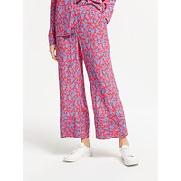 Finery Rosalie Floral Wide Leg Trousers, Shadow