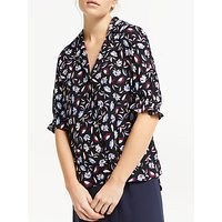 Finery Darcie Floral Blouse, Black