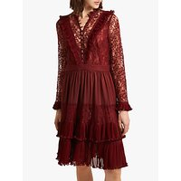 shop for French Connection Clandre Vintage Lace Dress, Rosso Red at Shopo