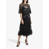 shop for French Connection Ambre Embroidered Lace Floral Dress, Black at Shopo