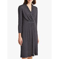 shop for French Connection Caressa Dot Wrap Dress, Utility Blue/Multi at Shopo