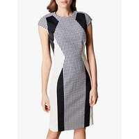 Karen Millen Gingham Bodycon Dress, Black/White