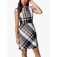 Karen Millen Short-Sleeve Checked Dress, Multi