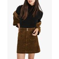 Madewell Corduroy A-Line Mini Skirt, Asparagus