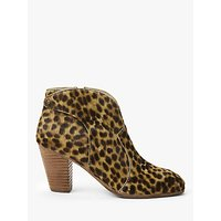 shop for Boden Hoxton Heeled Ankle Boots, Tan Leopard at Shopo