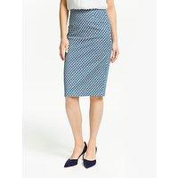 Boden Richmond Pencil Skirt, Heron Blue Geo