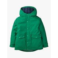 Mini Boden Boys' 3 in1 Waterproof Fisherman's Jacket, Green/Navy