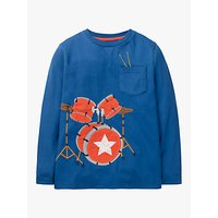 Mini Boden Boys' Music Applique T-Shirt, Blue