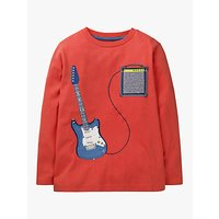 Mini Boden Boys' Music Applique T-Shirt, Red