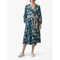 Toast Anokhi Print Cotton Wrap Dress, Teal