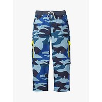 Mini Boden Boys Zip Off Techno Trousers, Blue Camouflage