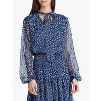 Lauren Ralph Lauren Weeko Floral Top, Vintage Blue/Whisper Blue