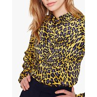 Damsel in a Dress Aimee Animal Print Blouse, Yellow