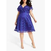 shop for Studio 8 Tiana Textured Dress, Cobalt Blue at Shopo
