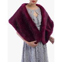 shop for Jolie Moi Faux Fur Stole Wrap, Plum at Shopo
